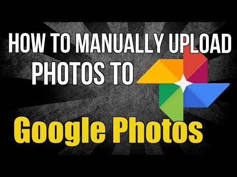 How to manually upload photos to Google Photos