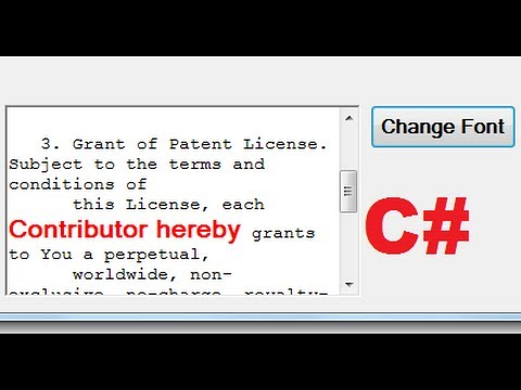 C# Tutorial 77: How to Use FontDialog in C# to change Font Size ,Color,Type .....