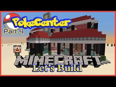 Minecraft Let's Build: Pokecenter part #4