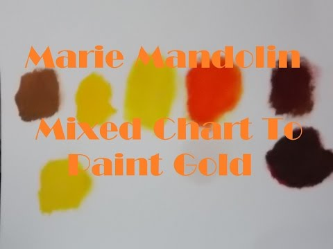 Marie Mandolin ~ Colour Chart To Paint Gold