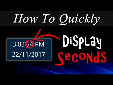 How To Quickly: Display Seconds In The Taskbar Clock In Windows 10