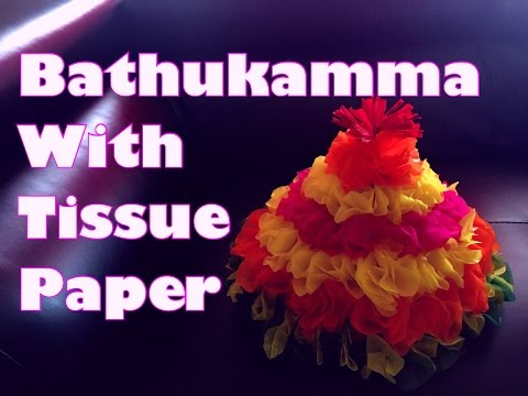 DIY Bathukamma With Tissue Papers HC#7