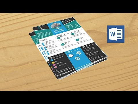 How to create professional resume in microsoft word