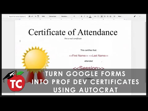 Create Professional Development Certificates from Google Forms using Autocrat