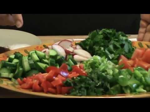 Fattoush Salad Recipe! (Fatoush) Healthy & Delicious Lebanese salad...Summer Salad