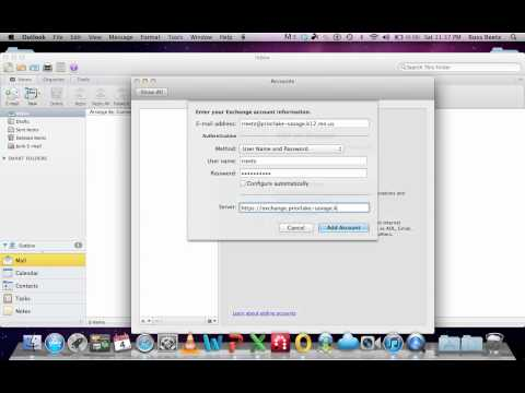 Set up outlook on a MAC