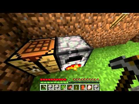 Minecraft Survival Part 3 - How to make a Bucket?