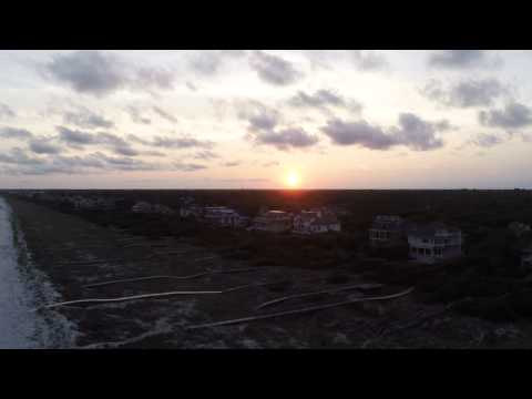 kiawah island, SC beach sunset phantom drone with gopro