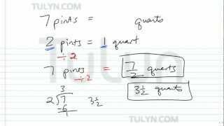 Conversion Of Customary Units Converting Pints To Quarts