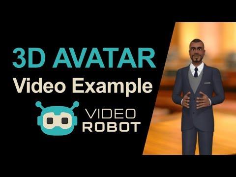 3D Avatar Video Example in VideoRobot