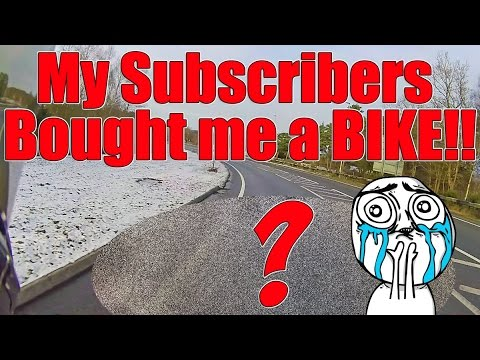 My subscribers bought me a bike!!