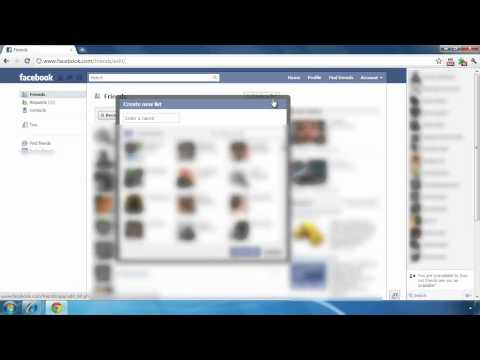 Create Friend Lists on Facebook to organize friends