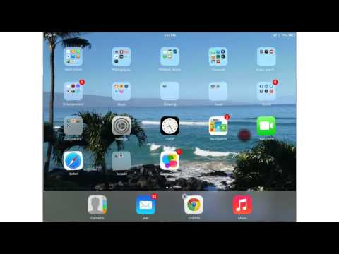 iPad - How To Organize Apps into Folders - iPad iPhone