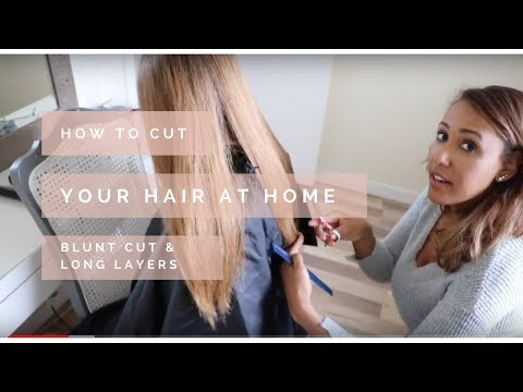 How To Cut Your Hair At Home   Blunt Cut With Long Layers   Nicole Fiona Serrao