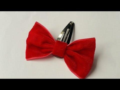 How To Make A Cute Velvet Bow Hair Clip - DIY  Tutorial - Guidecentral