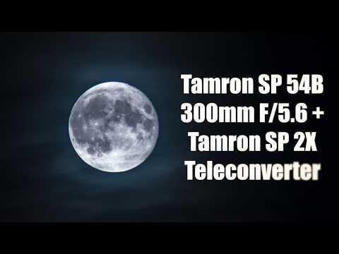 Tamron Adaptall 54B 300mm Lens + 01F Teleconverter - 600mm / 1200mm on MFT Moon Test