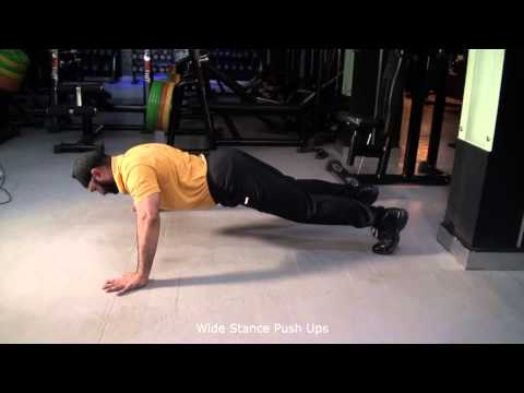 Wide Stance Push Ups