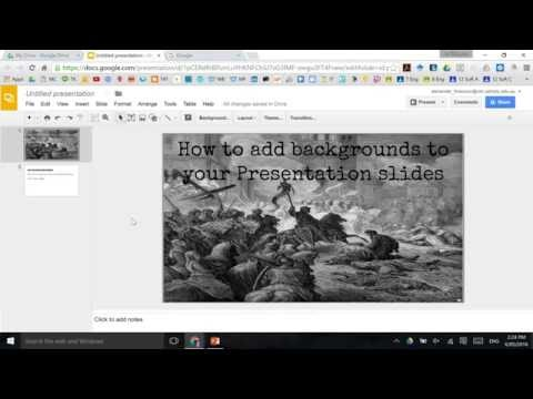 How to add background (and animated ones) into Google Slides