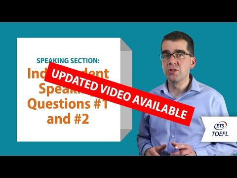 Inside the TOEFL® Test: Speaking Questions 1&2