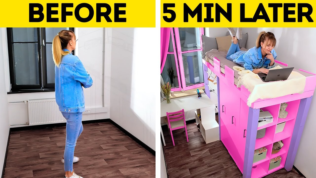 JAW-DROPPING ROOM TRANSFORMATION    Wonderful Home Decor Ideas And Cheap DIY Furniture