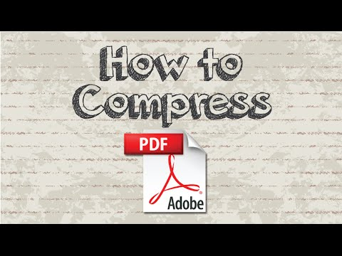 How to compress PDF into smaller file size