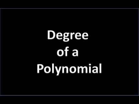 How to Find Degree of a Polynomial (Hindi)