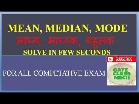 Mean(average), Median, Mode ,(Fast calculation), by gate class mech