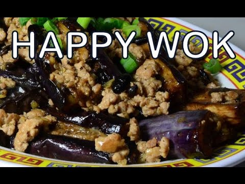Stir Fry : Eggplant and Ground Pork in Black Bean Sauce : Authentic Cantonese cooking.