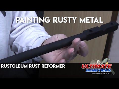 Painting rusty metal | Rustoleum Rust Reformer