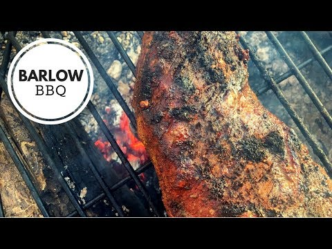 BBQ Tri-Tip Roast Grilled Santa Fe Style Over a Campfire | Campfire Cooking Recipe | Barlow BBQ