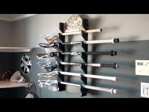 My Lacrosse Stick Rack