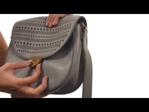Fossil Emi Perf Leather Saddle Bag  SKU:8841695