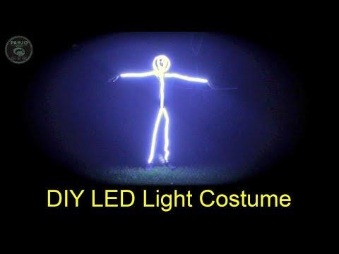 How to Make an LED Stick Figure Costume - Solder LED Light Strip