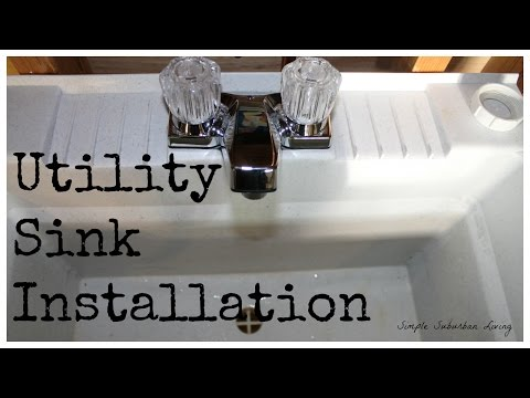 Utility Sink Installation - Water Supply