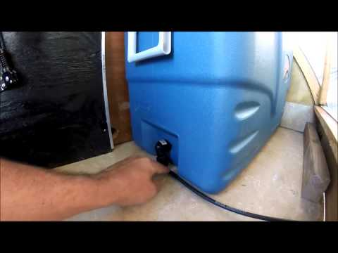 ice chest drain valve teardrop camper