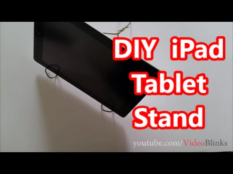 DIY iPAD Tablet Stand