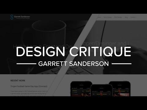 Design Critique Garrett Sanderson