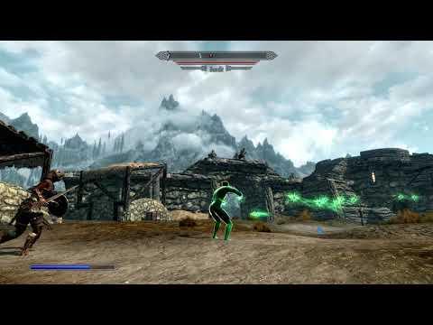 Elder Scrolls V  Skyrim green lantern mod testing