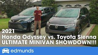 2021 Honda Odyssey vs. Toyota Sienna —  Minivan Comparison: Who Has the Best Family Vehicle?