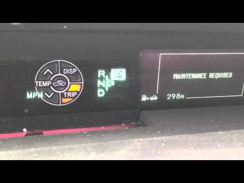 HOW TO: Reset MAINTENANCE REQUIRED light on 2015 Toyota Prius