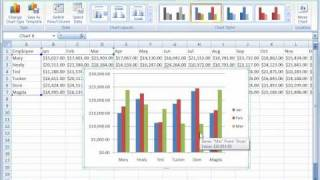 Excel 2007 Tutorial 17 Creating Charts