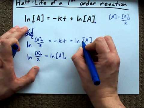 Half-Life of a First-Order Reaction (Derivation)