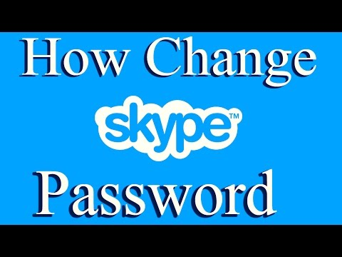 How to Change Your Skype password 2015