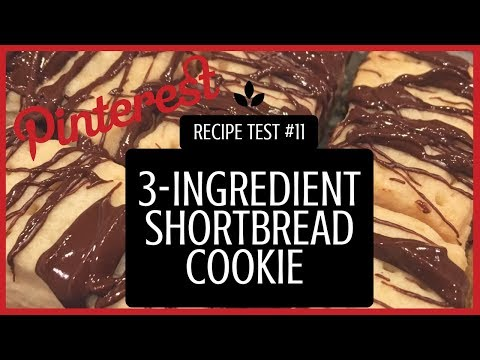 3-Ingredient Shortbread Cookie Recipe  - PINTEREST RECIPE TEST #11 (Eggless) (Vegetarian)