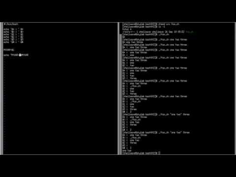 BASH Shell Scripting Tutorial in Linux #002 - Arguments Passed on Shell Script