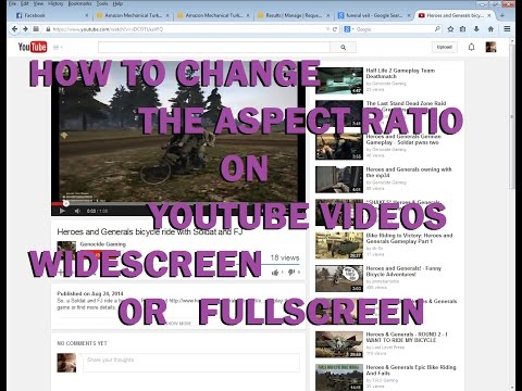 How to Change the Aspect Ratio on Youtube videos