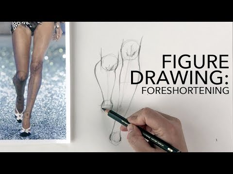 Figure Drawing Tutorial: Foreshortening (Men, Women, Kids)
