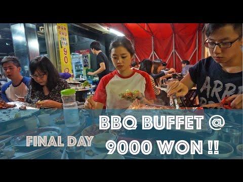 SEOUL DAY 9 : BBQ BUFFET UNDER $10 @ SINCHON