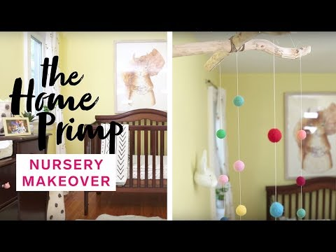 Baby Nursery Gets A Major Makeover On A Budget | DIY Mobile | The Home Primp