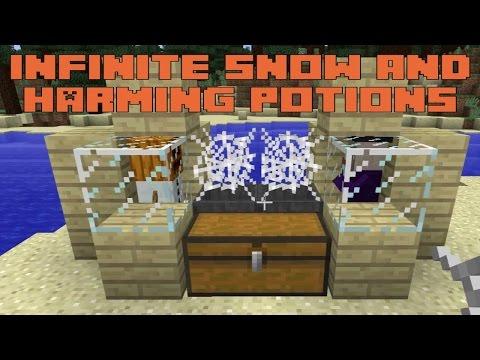 Minecraft 1.9 Snapshot 15w49 - Infinite Snow and Harming Splash Potions